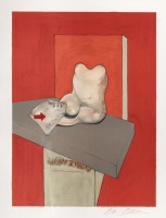 Francis BACON | Study for the human body from a drawing by Ingres | Lithograph available for sale on www.kunzt.gallery