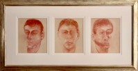 Francis BACON | Three studies for a portrait of John Edwards | Lithograph available for sale on www.kunzt.gallery