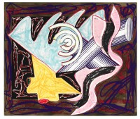 Frank STELLA | A Hungry Cat Ate up the Goat | Mixed Media available for sale on www.kunzt.gallery