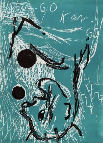 Georg BASELITZ | Orangenesser | Linocut available for sale on www.kunzt.gallery