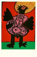 Guillaume CORNEILLE | Big bird (Grosser Vogel) | Lithograph available for sale on www.kunzt.gallery