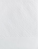 Gunther UECKER | Diagonal structure | Embossing available for sale on www.kunzt.gallery