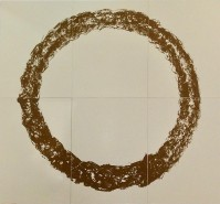 Gunther UECKER | Ouroboros (natural sand) | Screen-print available for sale on www.kunzt.gallery