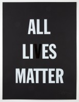 Hank WILLIS THOMAS | All Li es Matter | Screen-print available for sale on www.kunzt.gallery