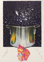 James ROSENQUIST | Caught one lost one for the fast student or star catcher | Mixed Media available for sale on www.kunzt.gallery