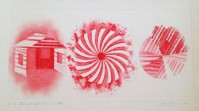 James Rosenquist | Star and Empty House - 2 state | Aquatint available for sale on www.kunzt.gallery