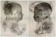 Jaume PLENSA | Untitled, set of 2 | Etching available for sale on www.kunzt.gallery