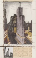 Javacheff CHRISTO   Wrapped Building Project for nr 1 Times Square   Collage available for sale on www.kunzt.gallery