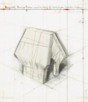 Javacheff CHRISTO | Wrapped Snoopy House-Project for the Charles M. Schulz Museum | Lithograph available for sale on www.kunzt.gallery