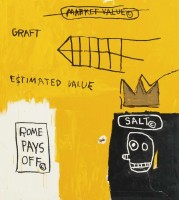 Jean-Michel BASQUIAT | Rome pays off | Serigraph available for sale on www.kunzt.gallery