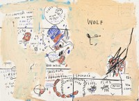 Jean-Michel BASQUIAT | Wolf Sausage | Screen-print available for sale on www.kunzt.gallery