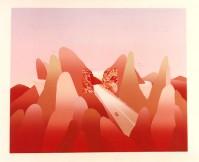 Jean-Michel FOLON | Je vous ecris des montagnes Rocherrses | Silkscreen available for sale on www.kunzt.gallery