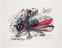 Jean TINGUELY   Roto Zaza No. 1   Screen-print available for sale on www.kunzt.gallery
