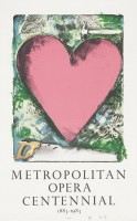Jim DINE | A heart at the Opera | Lithograph available for sale on www.kunzt.gallery