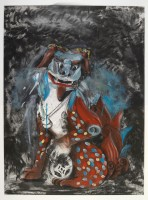 Jim DINE | Fo dog in hell | Etching available for sale on www.kunzt.gallery