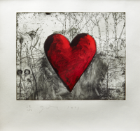 Jim Dine | The Little Heart in the Landscape | Etching available for sale on www.kunzt.gallery