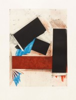 Joel SHAPIRO | Untitled (Red Square with Blue) | Etching available for sale on www.kunzt.gallery