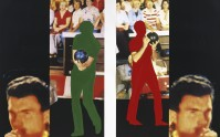 John BALDESSARI | Two bowlers (with questioning person) | Lithograph available for sale on www.kunzt.gallery