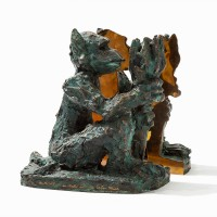 Jorg Immendorf | Alter Ego (2 parts) | Bronze available for sale on www.kunzt.gallery