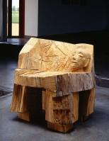 Josef Felix MüLLER | Stuhl (Kopf) | Wood available for sale on www.kunzt.gallery
