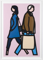 Julian OPIE | New York couple 3 | Screen-print available for sale on www.kunzt.gallery