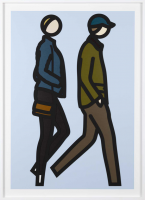 Julian OPIE | New York couple 4 | Screen-print available for sale on www.kunzt.gallery