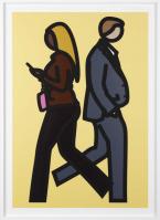 Julian OPIE | New York couple 5 | Screen-print available for sale on www.kunzt.gallery