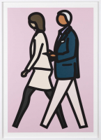 Julian OPIE | New York couple 7 | Screen-print available for sale on www.kunzt.gallery