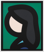 Julian OPIE | Paper head 6 | Laser print available for sale on www.kunzt.gallery
