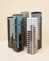 Julian OPIE | modern towers | Wood available for sale on www.kunzt.gallery