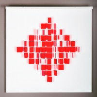 Julio LE PARC | Mobile Losange Rouge | Mixed Media available for sale on www.kunzt.gallery