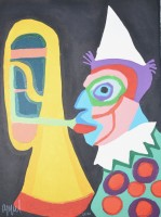 Karel Appel | Amsterdam clown | undefined available for sale on www.kunzt.gallery