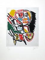 Karel APPEL   El Amigo del hombre KA 2   Etching and Aquatint available for sale on www.kunzt.gallery