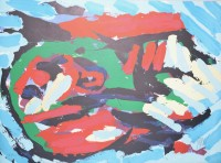 Karel Appel | Flying head over ocean | undefined available for sale on www.kunzt.gallery