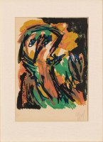 Karel APPEL | Face | Lithograph available for sale on www.kunzt.gallery