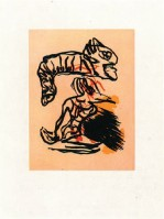 Karel APPEL | Salto sobre la cabeza | Etching and Aquatint available for sale on www.kunzt.gallery