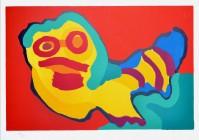 Karel APPEL | Sunshine people | Silkscreen available for sale on www.kunzt.gallery