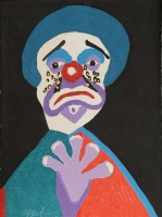 Karel Appel | The clown with the golden tears | undefined available for sale on www.kunzt.gallery
