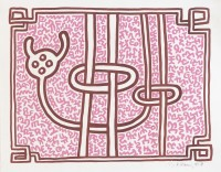 Keith HARING | Chocolate Buddha (Pink) | Lithograph available for sale on www.kunzt.gallery