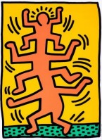 Keith HARING | Growing I | Screen-print available for sale on www.kunzt.gallery