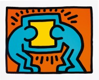 Keith HARING | Pop Shop VI, # VI-C | Silkscreen available for sale on www.kunzt.gallery