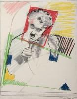 Larry Rivers | Early Chaplin | Screen-print available for sale on www.kunzt.gallery