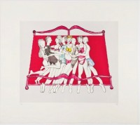 Louise BOURGEOIS | Eight in bed | Lithograph available for sale on www.kunzt.gallery
