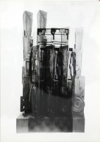 Louise NEVELSON | Clowns' Houses | Serigraph available for sale on www.kunzt.gallery