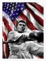 MR BRAINWASH | American Hero (Ali) | Serigraph available for sale on www.kunzt.gallery