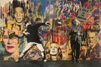 MR BRAINWASH | Banksy thrower and Einstein | Mixed Media available for sale on www.kunzt.gallery