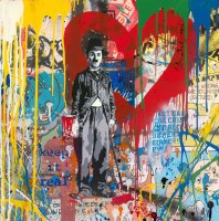MR BRAINWASH | Chaplin | Mixed Media available for sale on www.kunzt.gallery