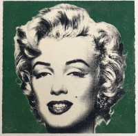 MR BRAINWASH | Diamond girl (green) | Mixed Media available for sale on www.kunzt.gallery