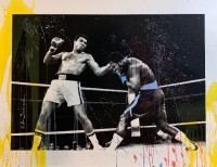 MR BRAINWASH | Grand Ali - Watercolor Series | Mixed Media available for sale on www.kunzt.gallery