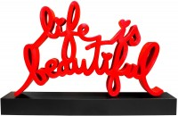 Mr Brainwash | Life is Beautiful Monumental Sculpture | Resin available for sale on www.kunzt.gallery